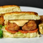 Cajun Fried Mini Tuna Po Boy