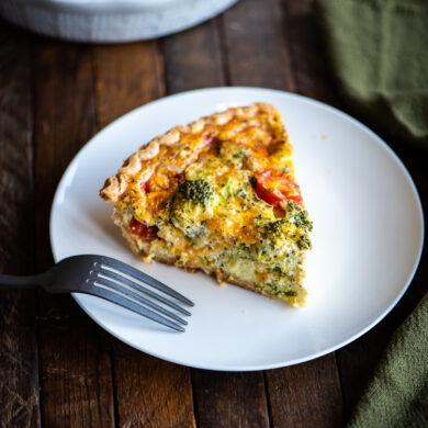 broccoli and cherry tomato quiche