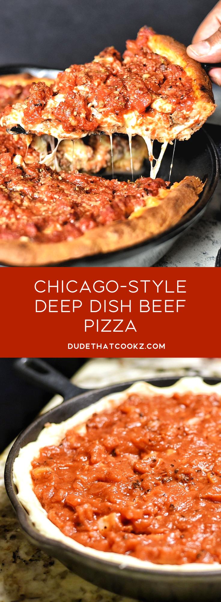 Deep Dish Beef Pizza