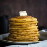 side view pancake stack