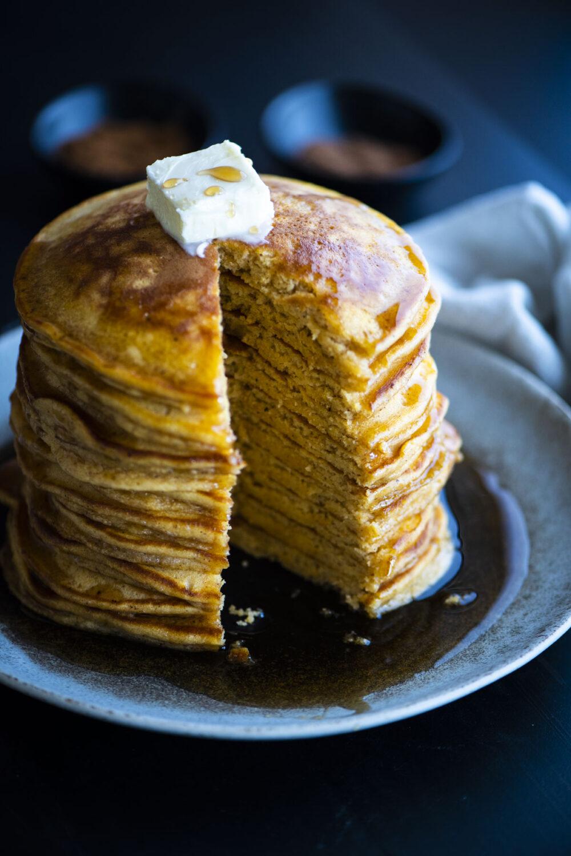 pancake stack cut into