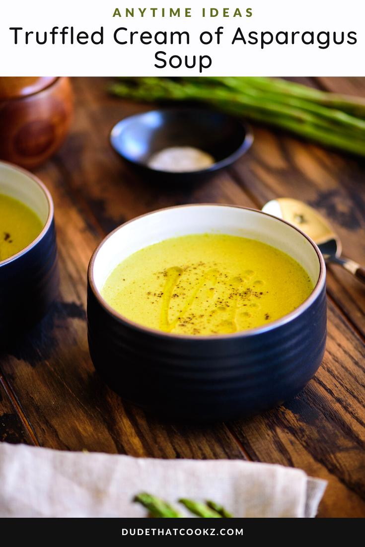 Truffled Cream of Asparagus Soup