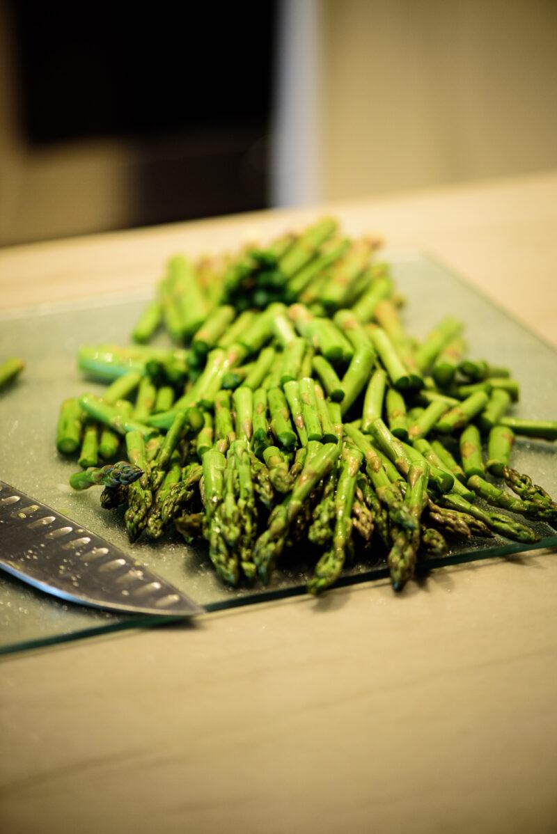 chopped fresh asparagus
