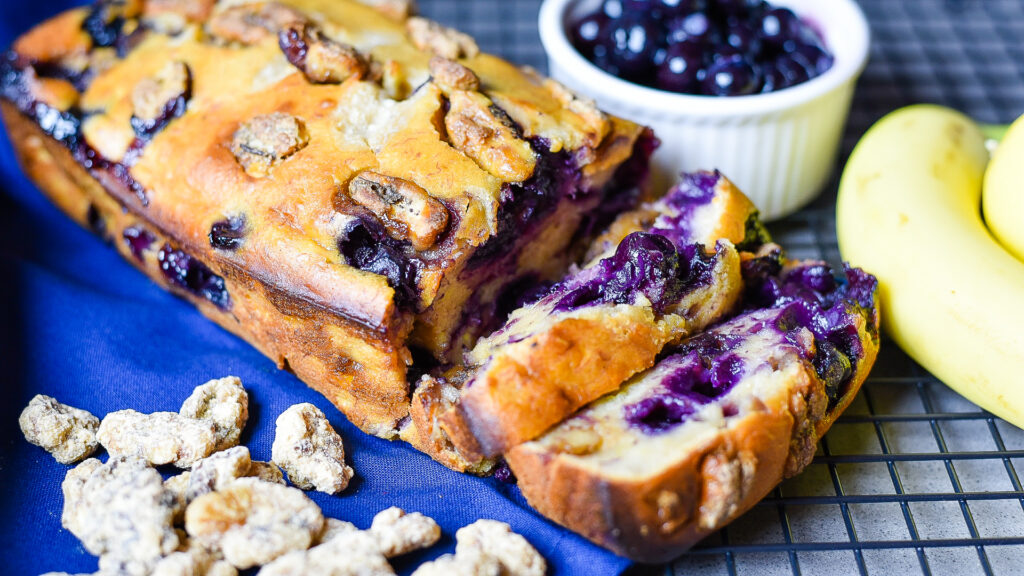 Blueberry Banana Bread Pudding