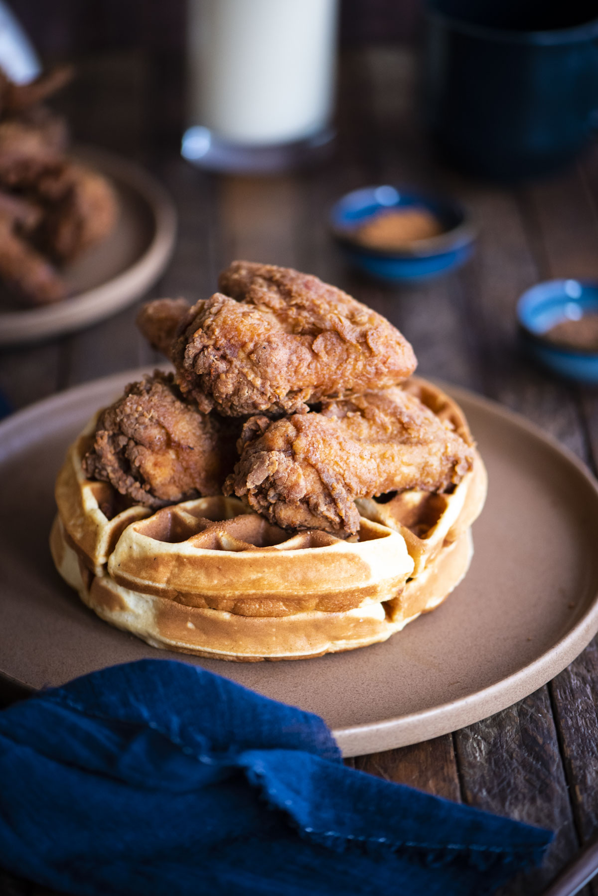 eggnog chicken and waffles without syrup