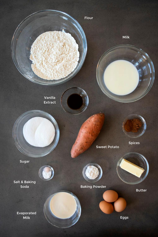 sweet potato pancakes ingredients