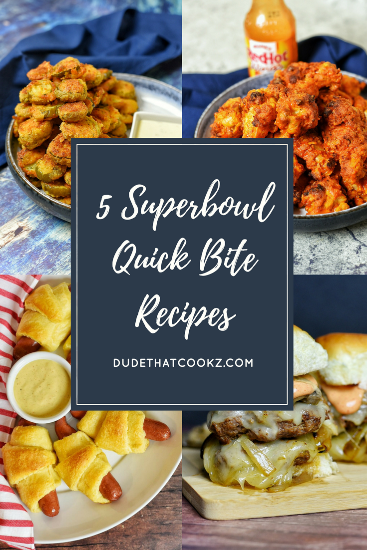 5 Superbowl Quick Bite Recipes