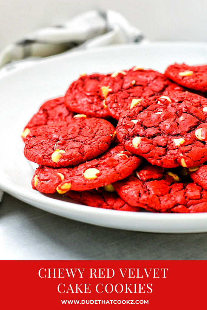 Chewy Red Velvet Cake Cookies