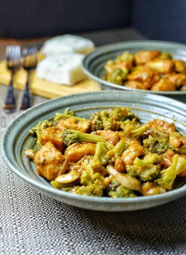 General Tso's Chicken & Broccoli