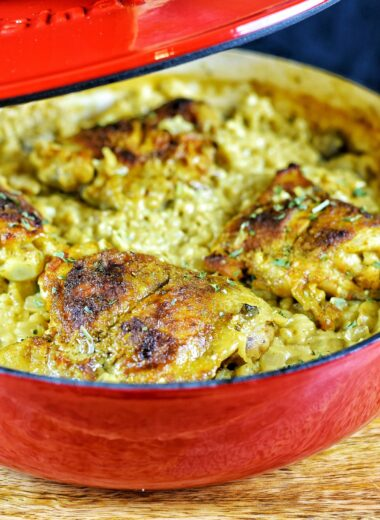 Curry Chicken & Mushroom Risotto