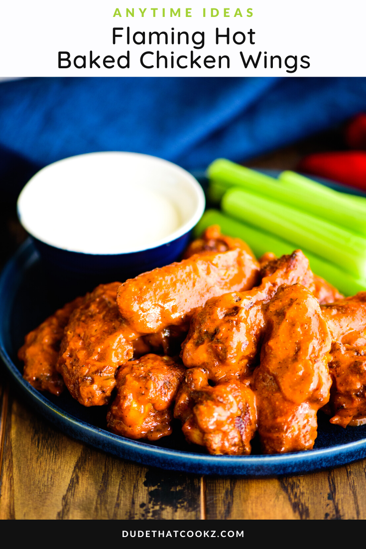 Flaming Hot Baked Chicken Wings
