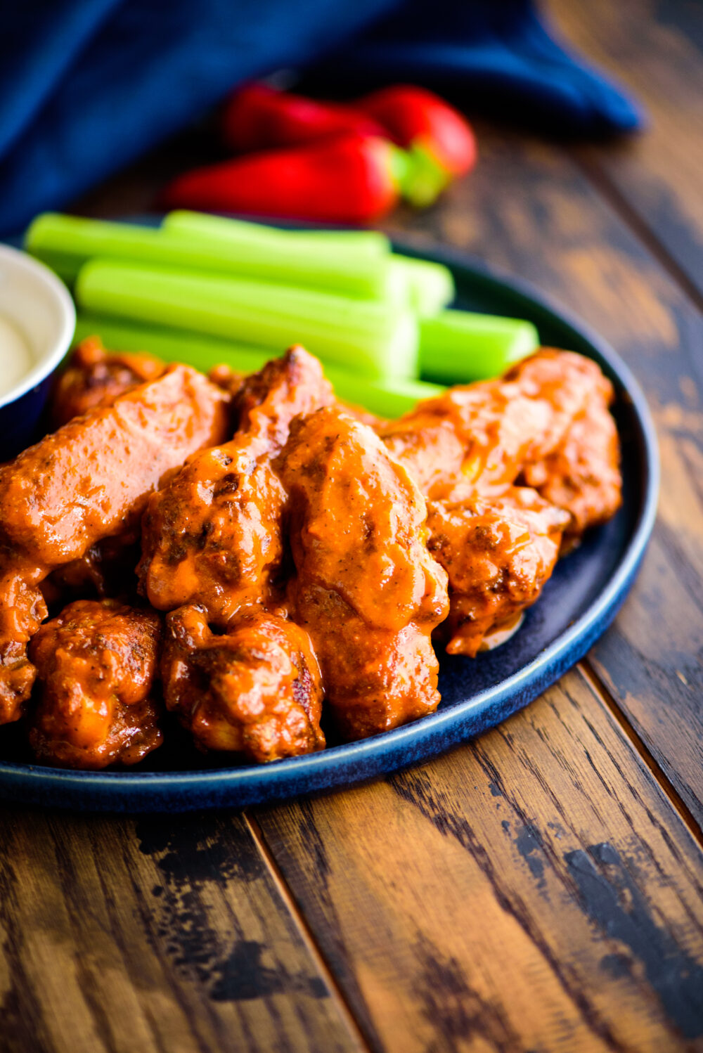 spicy baked buffalo chicken wings