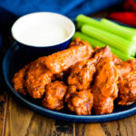 platter of buffalo hot wings