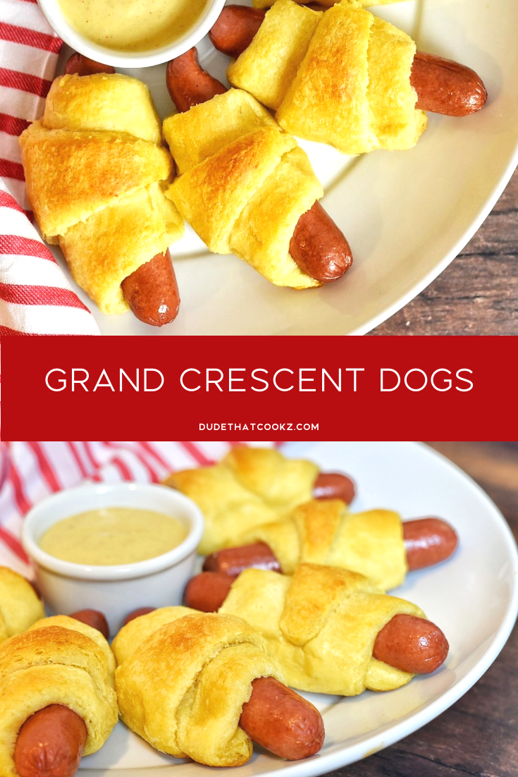 If you love crescent rolls and hot dogs why not combine the two! Say hello to my Grand Crescent Dogs. The buttery crescent roll with an all beef hot dog can be a change in the right direction. And the Kung Fu mustard sauce will enhance this hot dog experience and give it a kick. #fingerfood #crescentdogs #hotdogs #apps #gamedaysnacks #easyrecipes #rollups