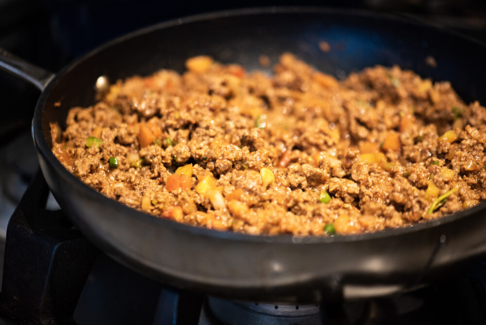 ground beef to be used for keto casserole