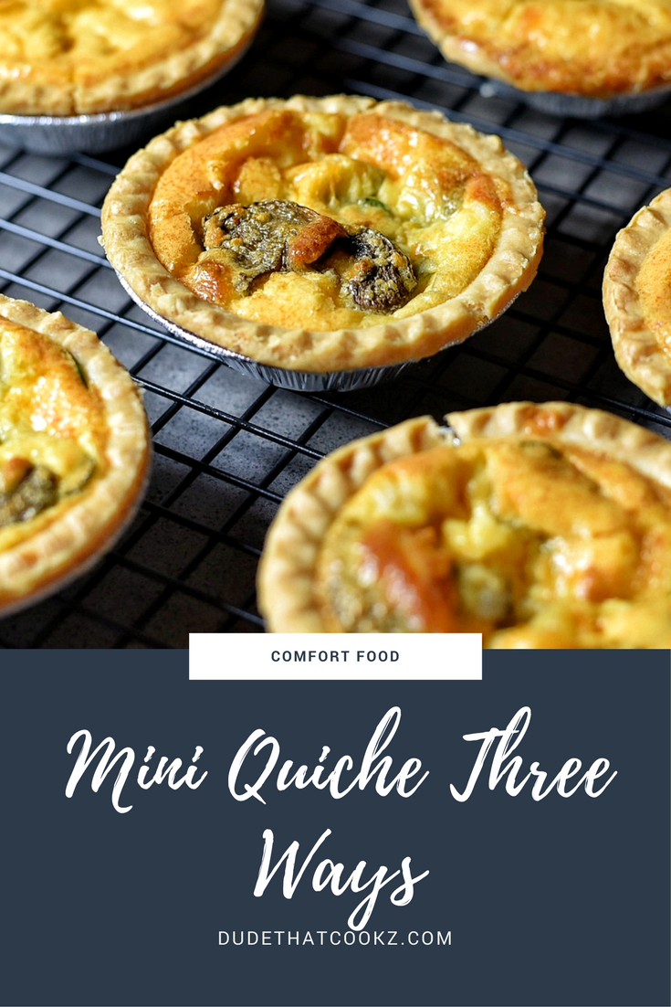 Quiche can be enjoyed plain (cheese) or you can add your own twist by incorporating the things you enjoy like spinach, mushrooms, smoked salmon, and more. #recipes #quiche #miniquiche #cheesequiche #spinachquiche