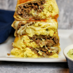 Cheesy Beef Breakfast Burrito