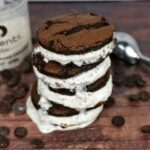 Chocolate Coconut Ice Cream Sandwich