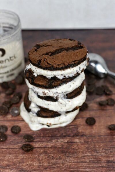 Chocolate Coconut Ice Cream Sandwich