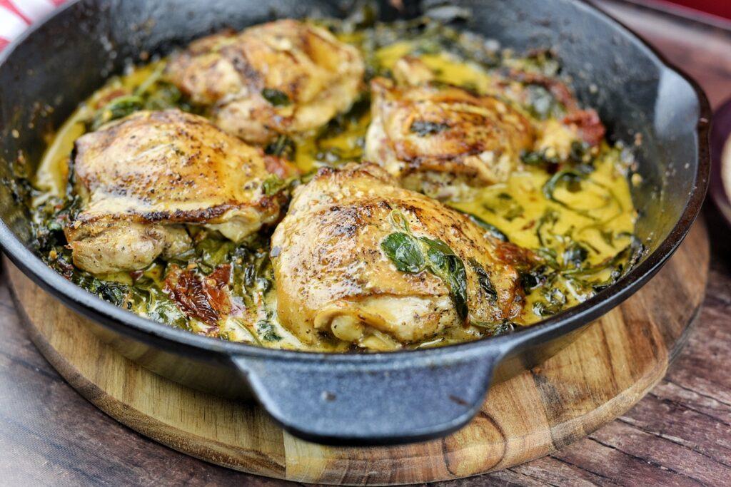 Cast Iron Sicilian Chicken