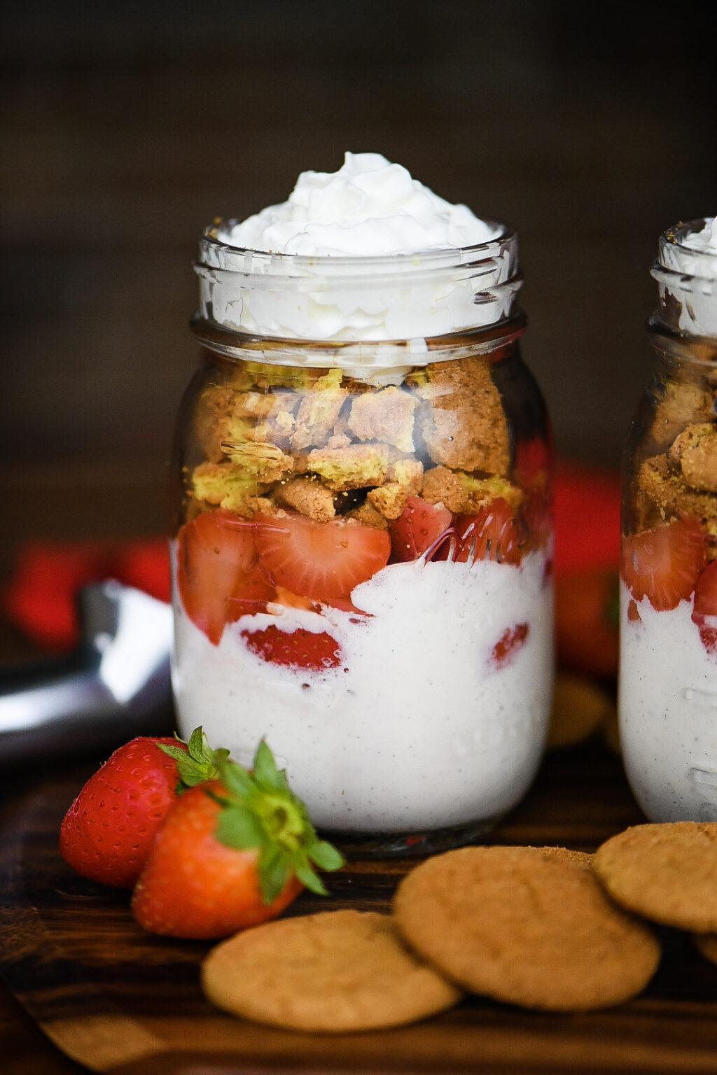 Strawberry & Lemon Cookie Ice Cream Trifle
