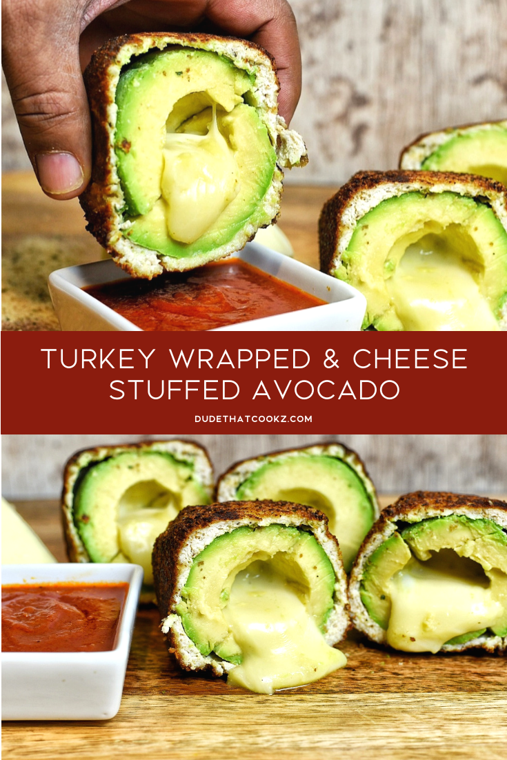 If you love guacamole these stuffed avocados can be a perfect alternative. Not only do avocados have health benefits, but when you stuff that bad boy with cheese you will start craving them quite often. #avocado #turkey #lowcarb #lowcarbrecipes #apps #fingerfoods