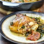 Sicilian Chicken & Spinach Saute