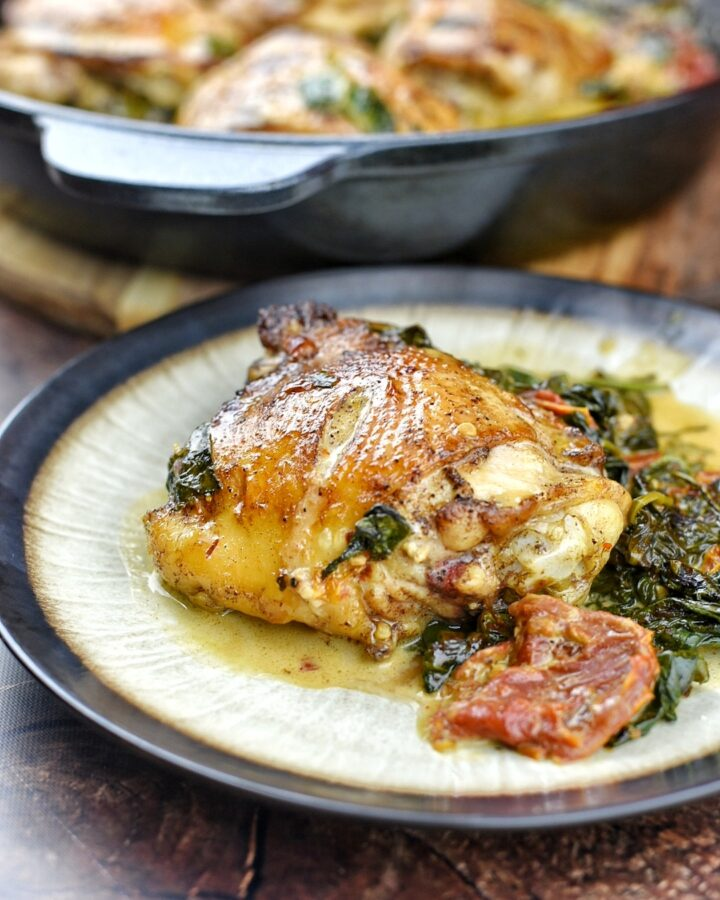 Cast Iron Sicilian Chicken