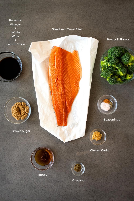 honey balsamic steelhead trout ingredients