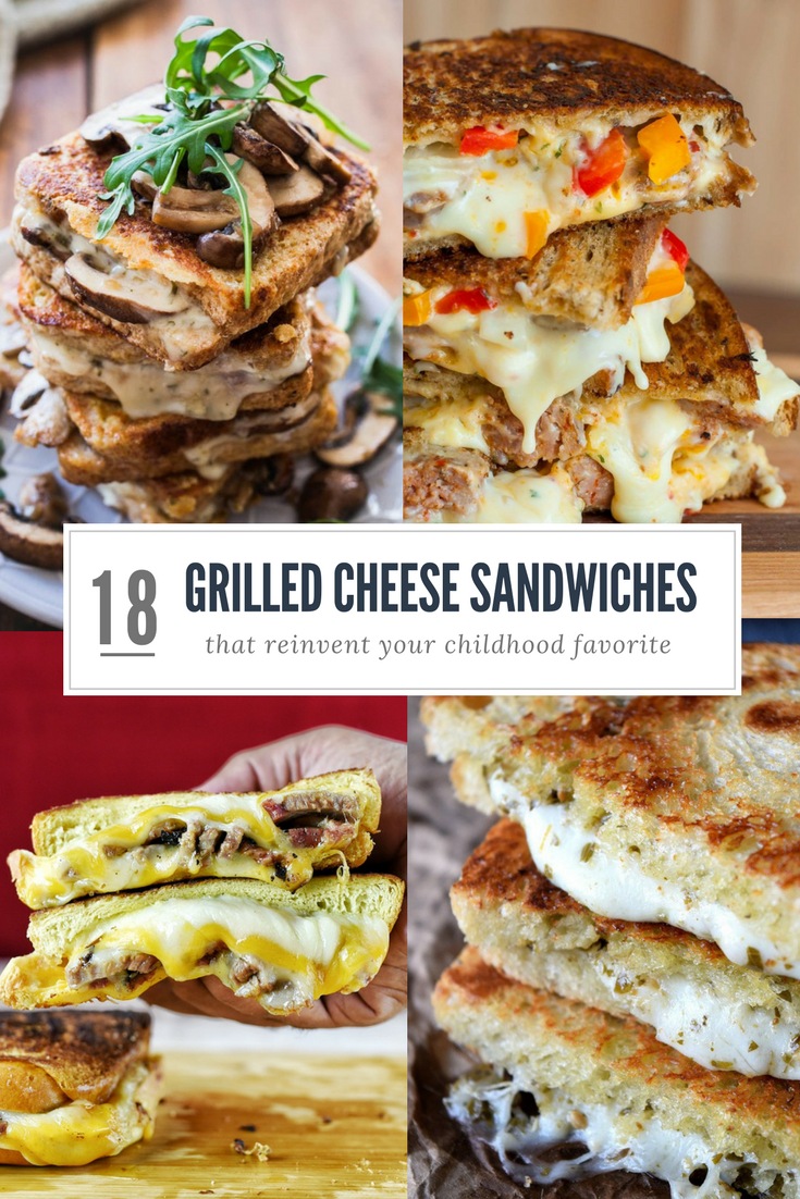 18 grilled cheese sandwiches