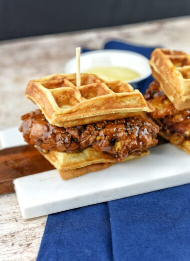 Sweet & Sticky Chicken Waffle Sliders