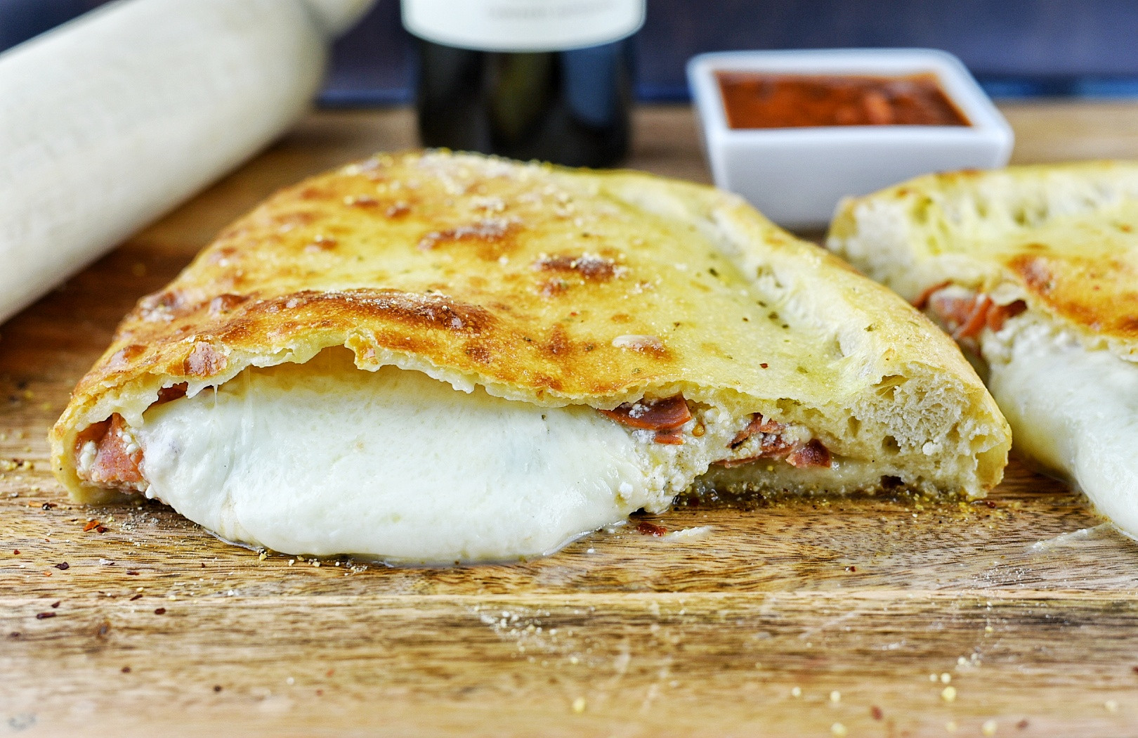 Turkey Pepperoni Calzone
