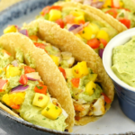 Grilled Fish Tacos With Mango Avocado Salsa
