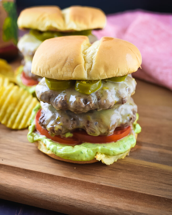 Spicy Jalapeno Double Cheese Burger