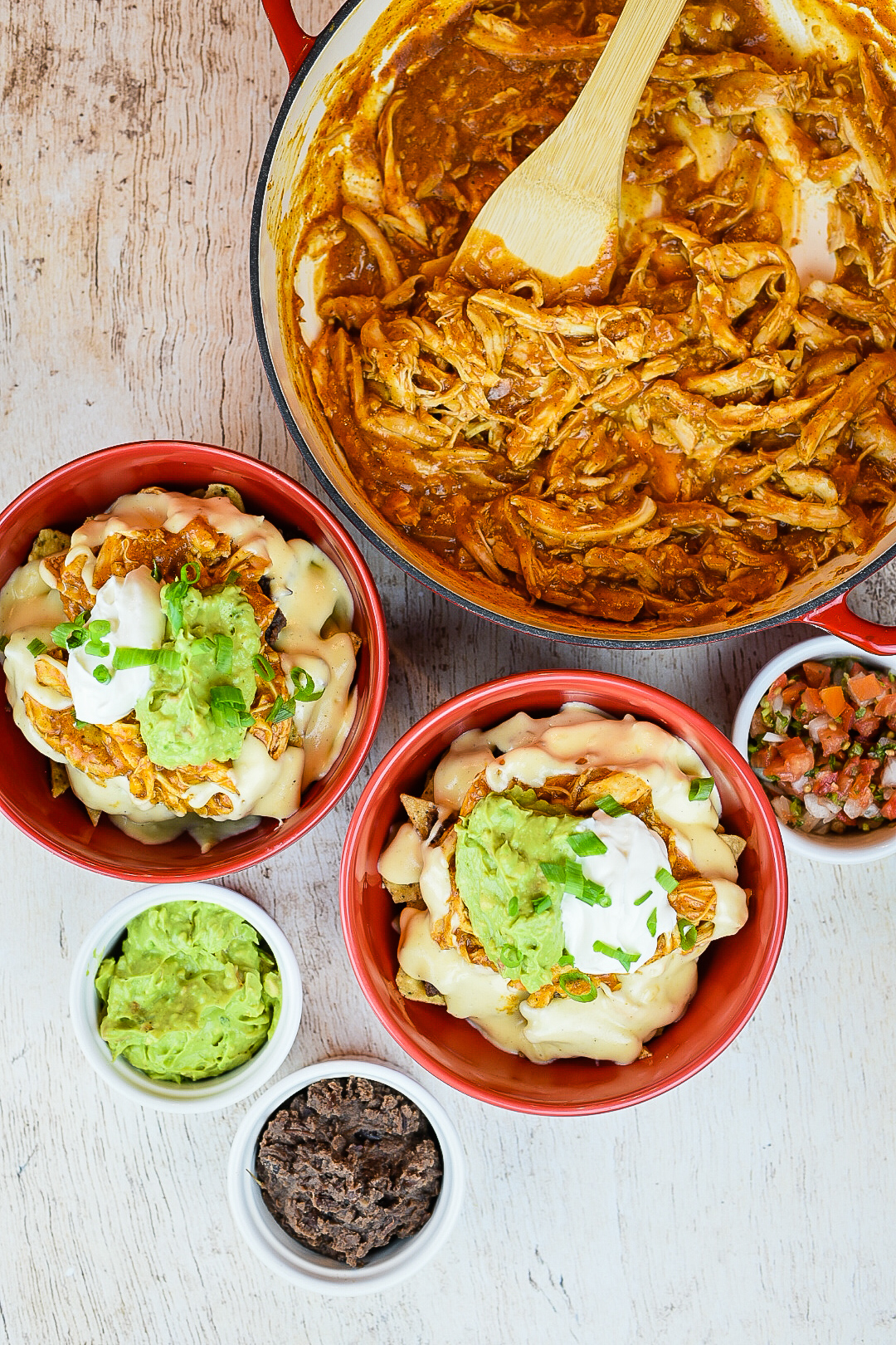 Chicken Enchilada Nachos