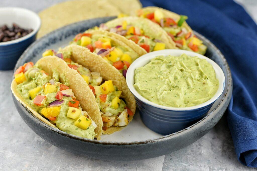 Mango Avocado Fish Tacos