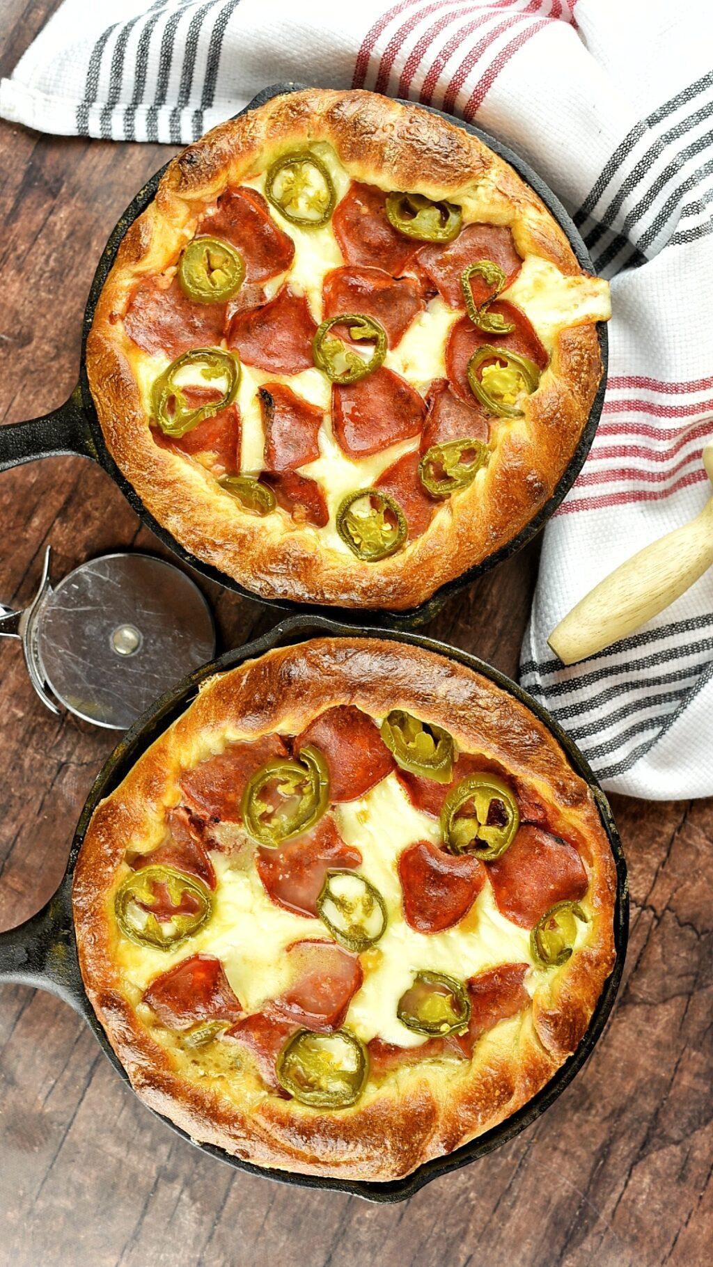 Personal Deep Dish Jalapeño Pepperoni Pizza