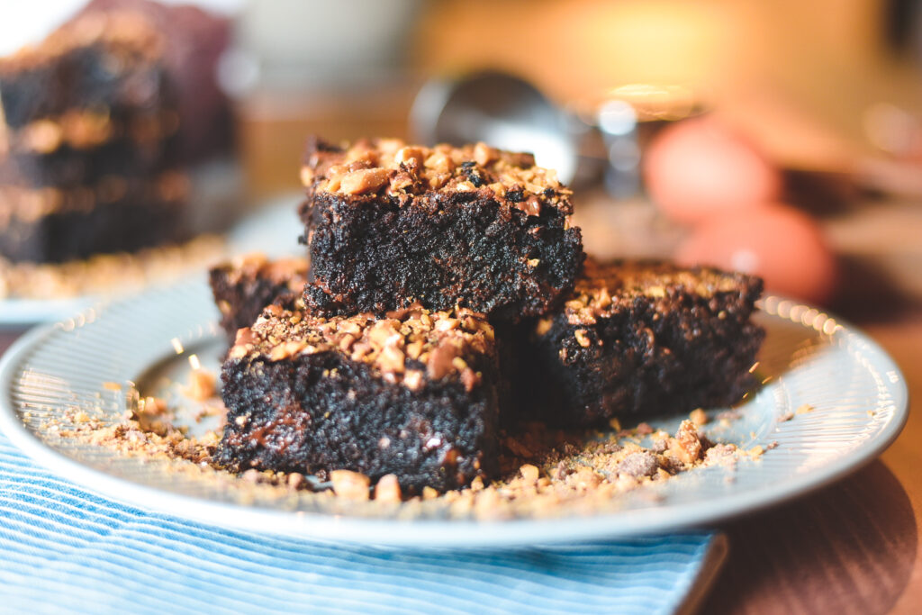 Dark Chocolate Toffee Brownies