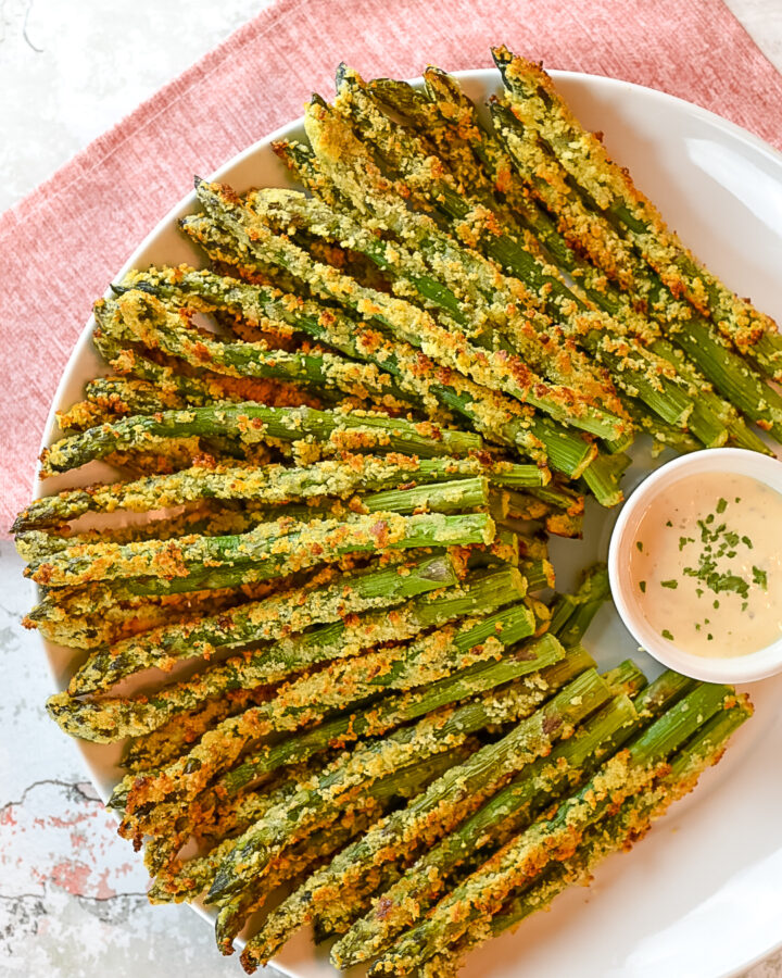 Parmesan Crusted Asparagus Spears