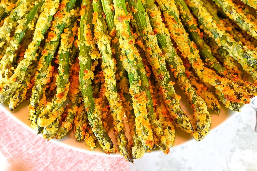 Parmesan Crusted Asparagus Spears