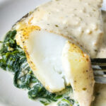 Foil Baked Chilean Sea Bass with Lemon Parmesan Cream Sauce