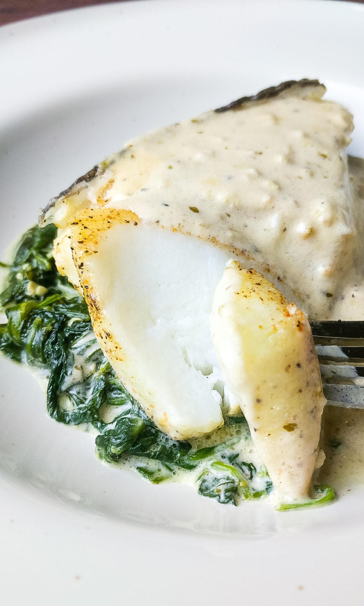 Foil Baked Chilean Sea Bass with Lemon Parmesan Cream Sauce