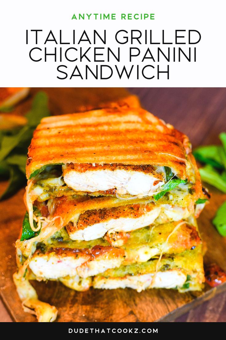 Italian Grilled Chicken Panini Sandwich