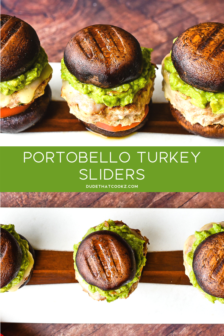 Sometimes I'm in the mood for a good burger, but I also want to try to eat on the healthier side. Well you can have both with my Portobello Mushroom Turkey Sliders! #turkeyburgers #sliders #mushroomsliders #mushroomcaps #mushroomburger #potobellomushrooms #glutenfreeburger #lowcarbburger #lowcarb #burgers #healthyburger #healthydinners #gamedaysnacks #glutenfree #ketorecipes #keto