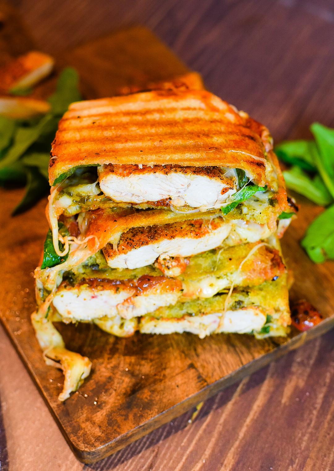 Italian Grilled Chicken Panini Sandwich Dude That Cookz