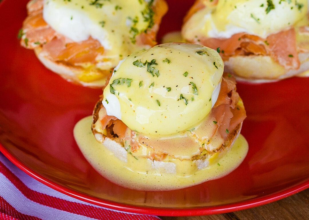Smoked Salmon Eggs Benedict with Hollandaise