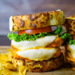 Double Cheesy Buffalo Chicken Burger