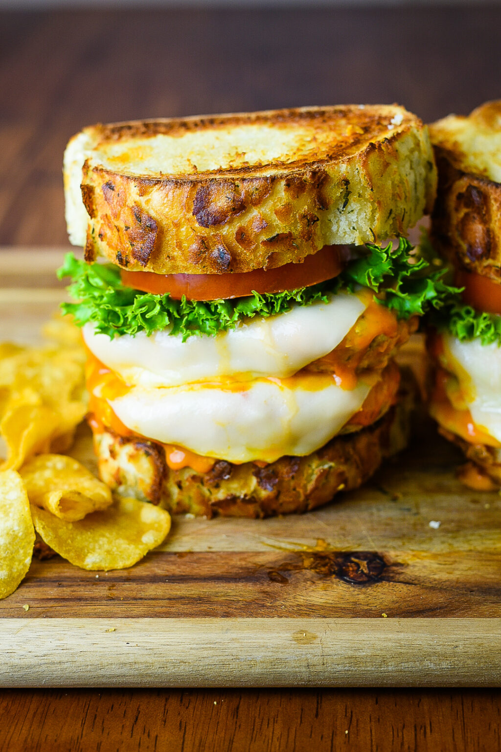 Double Buffalo Chicken Burger