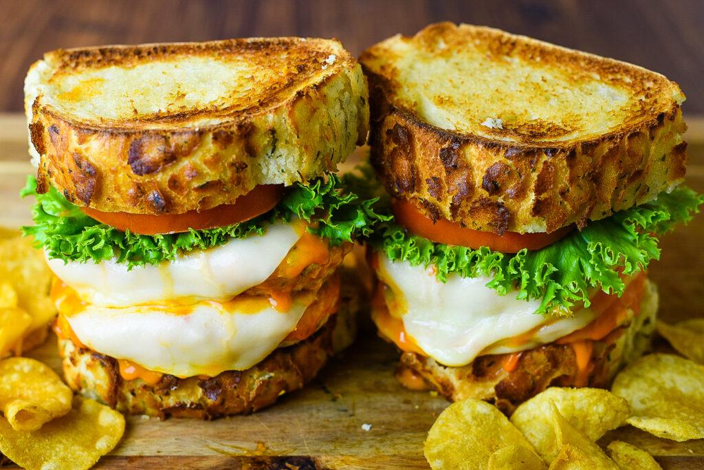 Double Buffalo Chicken Burger