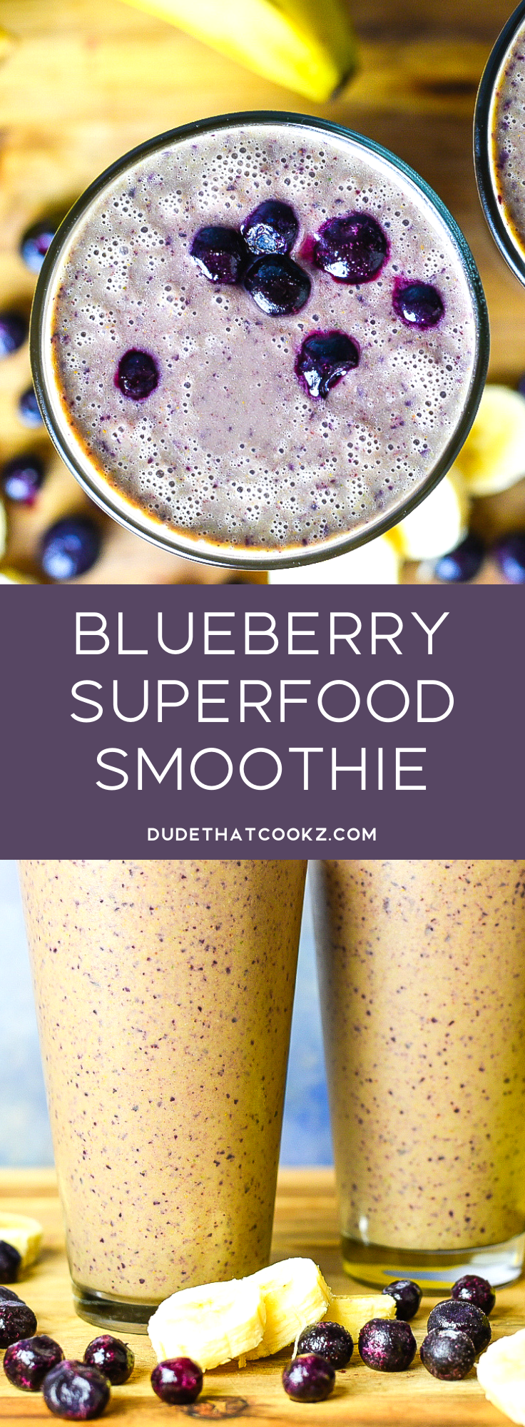 A go to for myself when I'm feeling like I need a nutritional boost is called the Blueberry Superfood Smoothie. This is a pretty simple combination of great tasting ingredients that will help you more than you realize. #smoothie #superfood #tumeric #ginger #bluberries #smoothierecipes #breakfastsmoothie #breakfast #blueberryrecipes #bluberries #superfoods #superfoodrecipes